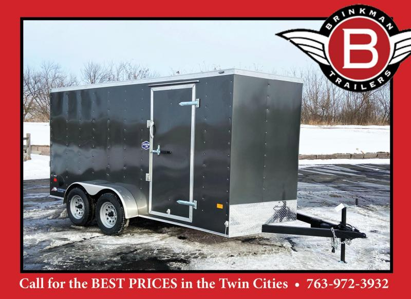 "American Hauler 7x14 Enclosed Cargo Trailer - 6'6"" Interior -Rear Ramp Door"