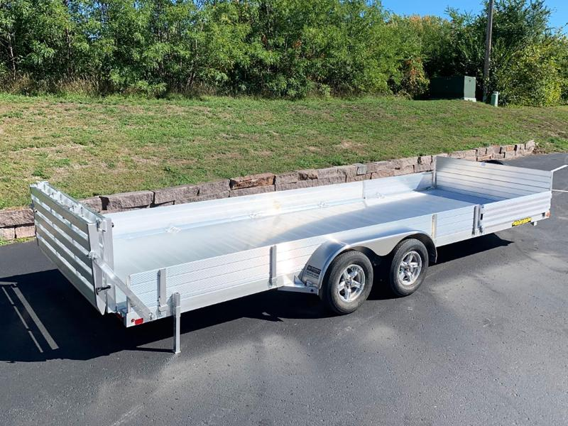 Aluma 8122TA-SR Bi-Fold Aluminum Tandem Torsion Axle Trailer - 7,000# GVWR!