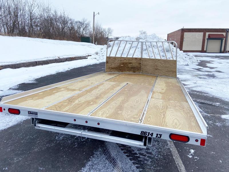 Aluma 8614/13B Aluminum Snowmobile Trailer w/Brakes-Salt Shield