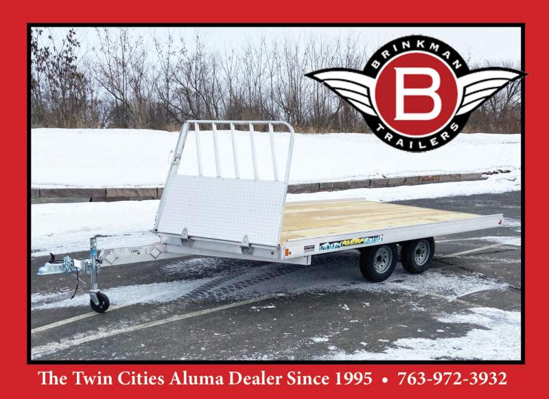 Aluma 8614/13B Aluminum Snowmobile Trailer w/Brakes-Salt Shield