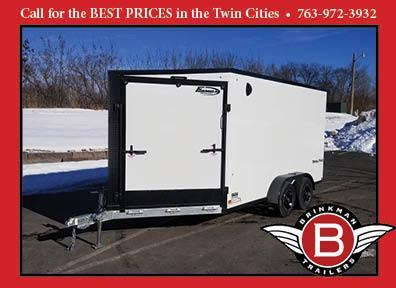 Formula 7x19 (14'+5'V) Aluminum Enclosed Snowmobile Trailer