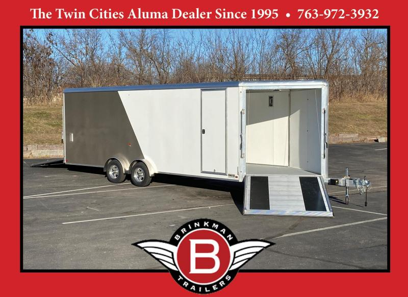 Deluxe Aluma 7.5x27 (22'+5'V) Enclosed Aluminum Snowmobile Trailer