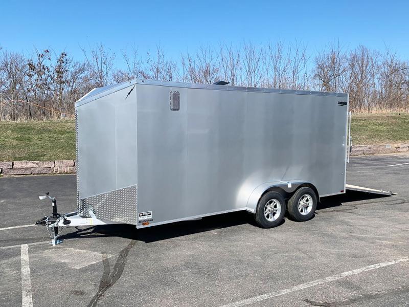 Lightning 7x16 Aluminum Enclosed Trailer - Rear Ramp!
