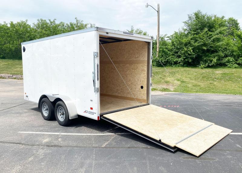 "Deluxe American Hauler 7x14 Enclosed Trailer - 6'6"" Int. - Rear Ramp!"