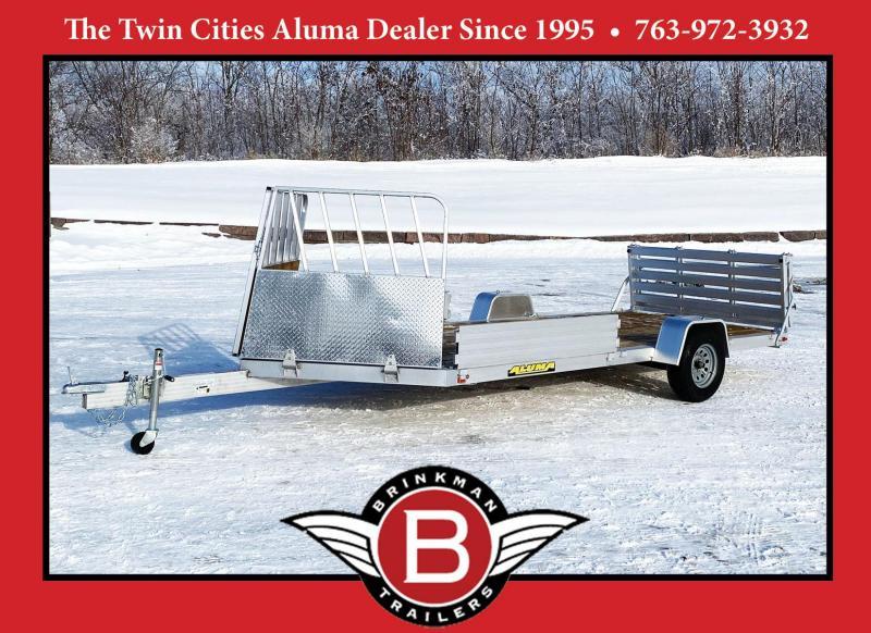 Aluma 8115 SRW Aluminum ATV/Snowmobile Utility Trailer w/Front Ramp!