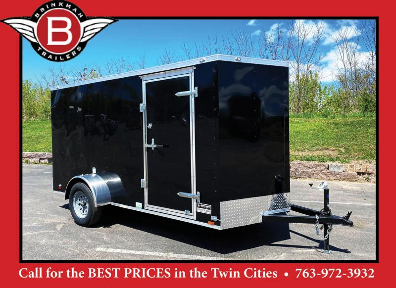 Continental 6x12 Enclosed Trailer - Rear Ramp!