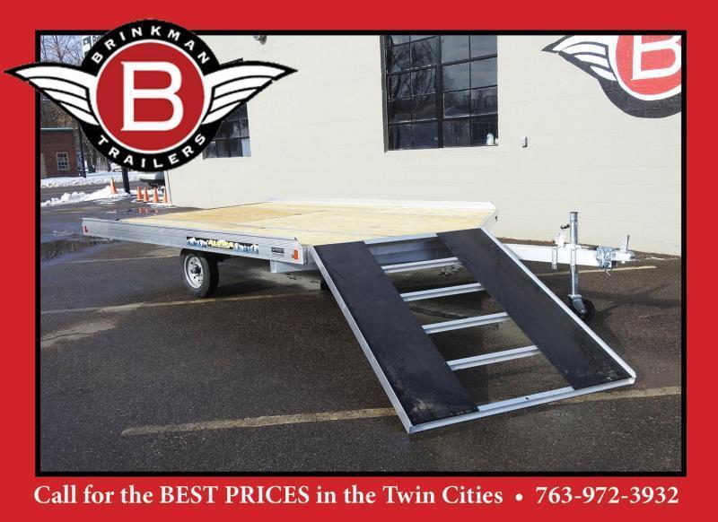 Aluma 8612D-12 Aluminum 2-Place Snowmobile Trailer - Drive On/Off