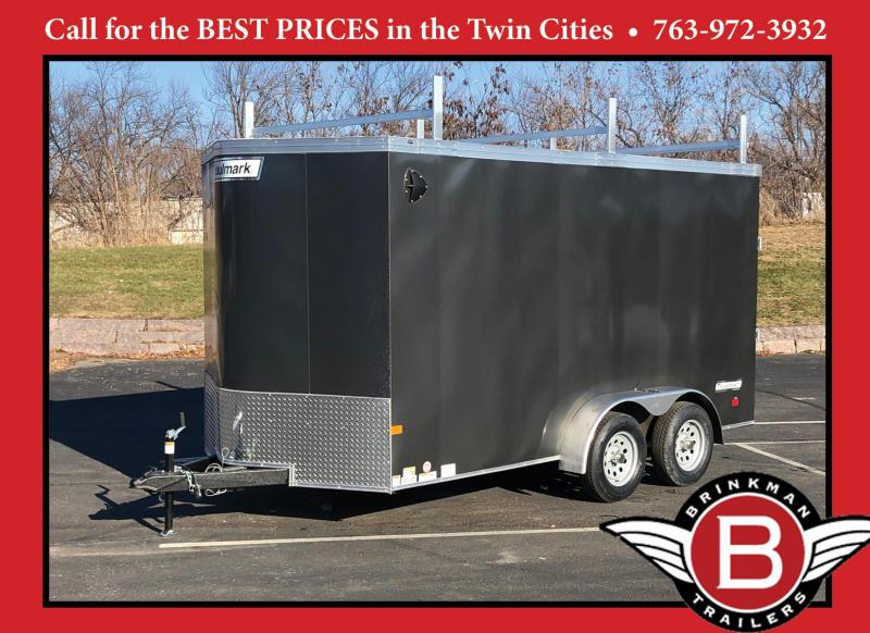 Premium Haulmark 7x14 Enclosed Contractor Trailer - 7' Int- Rear Ramp!