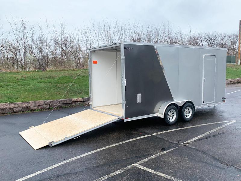 """Lightning 7x18 Aluminum Enclosed Trailer - 7'3"""" Int. - Rear Ramp!"""