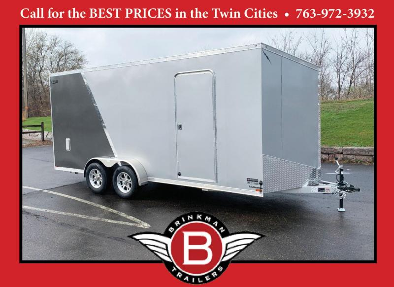 "Lightning 7x18 Aluminum Enclosed Trailer - 7'3"" Int. - Rear Ramp!"