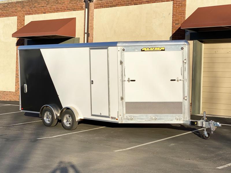 Aluma 7.5x21 (16'+5'V) Enclosed Aluminum Snowmobile Trailer - 7' Int.