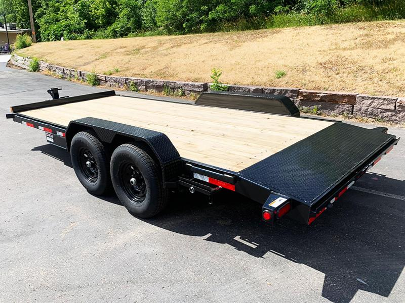 Heavy Duty Top Hat 83x18 Car/Bobcat Equipment Trailer - 14000# GVWR!