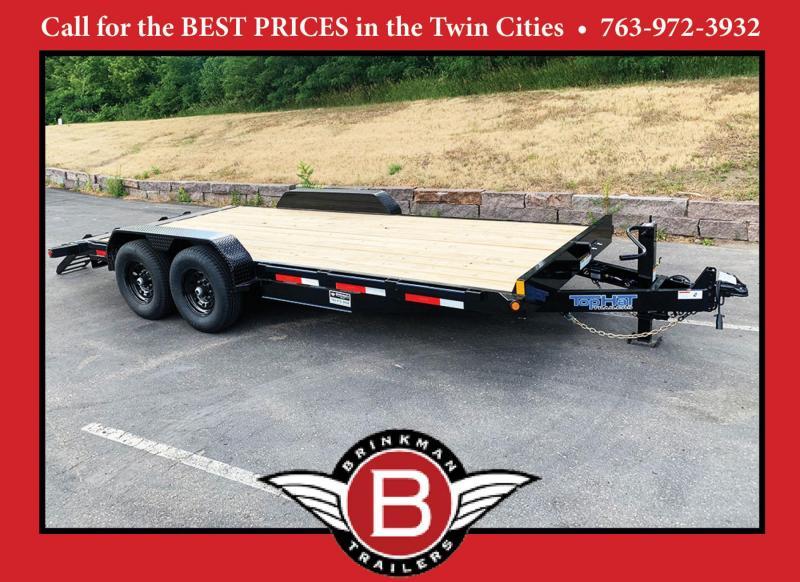 Top Quality Top Hat 83x18 Car/Bobcat Equipment Trailer - 14000# GVWR!