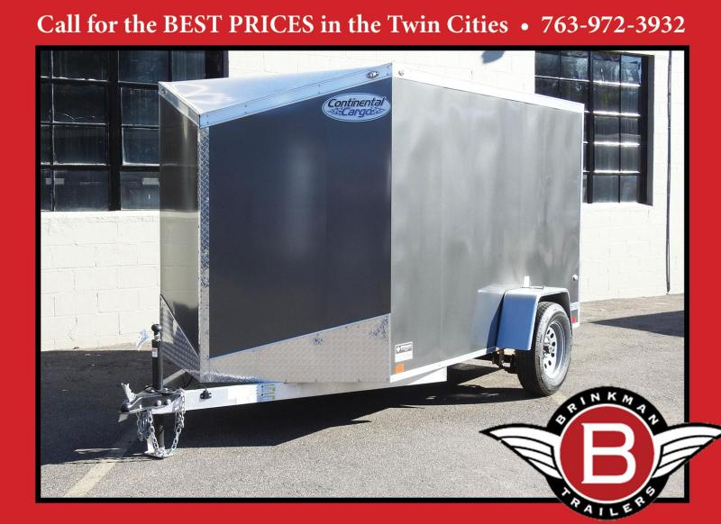 Continental Cargo 6x10 Aluminum Enclosed Cargo Trailer w/ Ramp Door