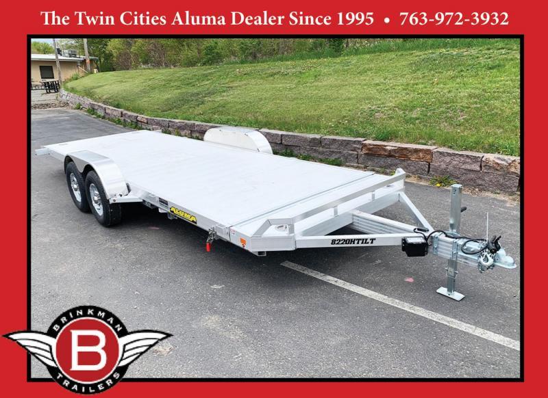 Aluma 8220H Aluminum Tilt Bed Tandem Axle Trailer - 9,990# GVWR