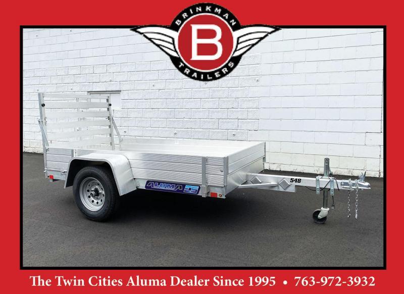 """Aluma 548 Aluminum Utility Trailer w/ 12"""" Solid Sides!"""