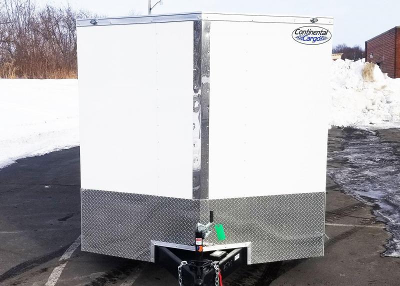 "Continental 7.5x20 Enclosed Cargo Trailer - 6'6"" Interior - Rear Ramp"