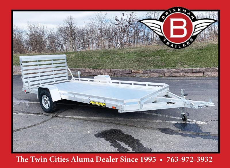 Aluma 7814ST (78x14) Heavy Duty Aluminum Utility Trailer!