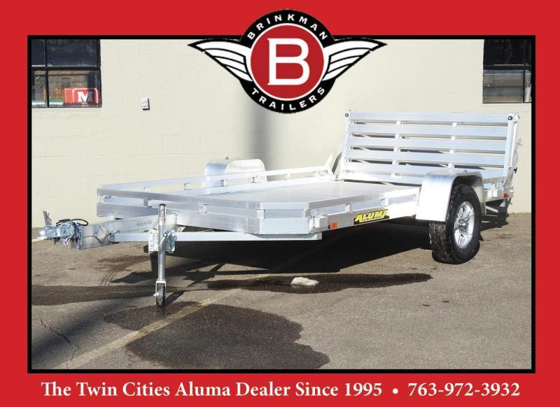 Aluma 7712H BT Aluminum Open Trailer - Bi-Fold Ramp - Great for UTV's!