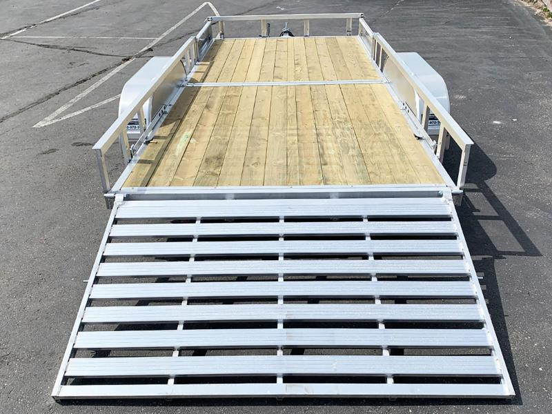 Quality Trophy 7x16 Aluminum ATV Trailer - Rear Ramp - Side Ramps!
