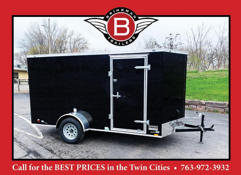 Continental 6x12 Enclosed Trailer - Dbl Rear Door!