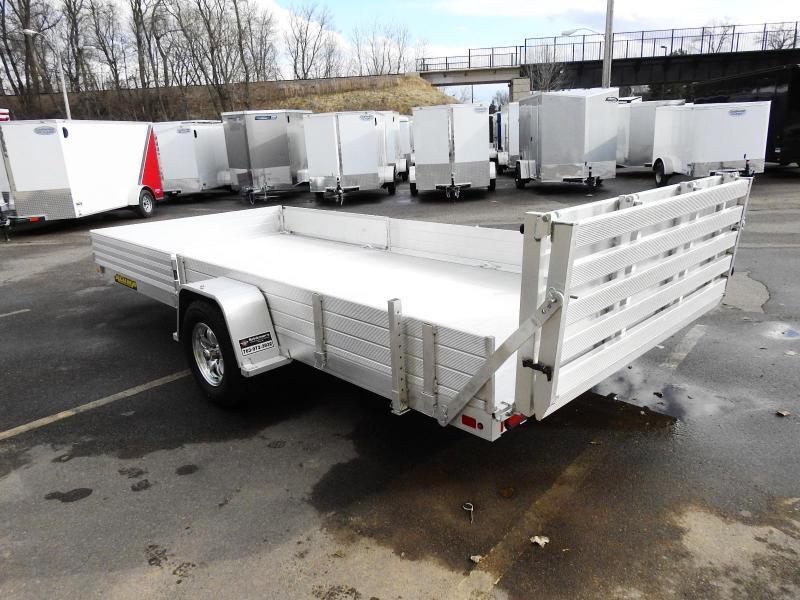 Aluma 8115 SRW (81x15) Aluminum ATV Trailer - Side Ramps!
