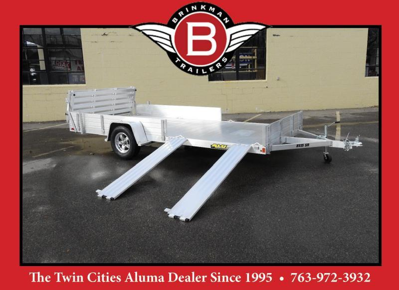 Aluma 8115 SRW Aluminum ATV/UTV Trailer w/Side Loading Ramps!