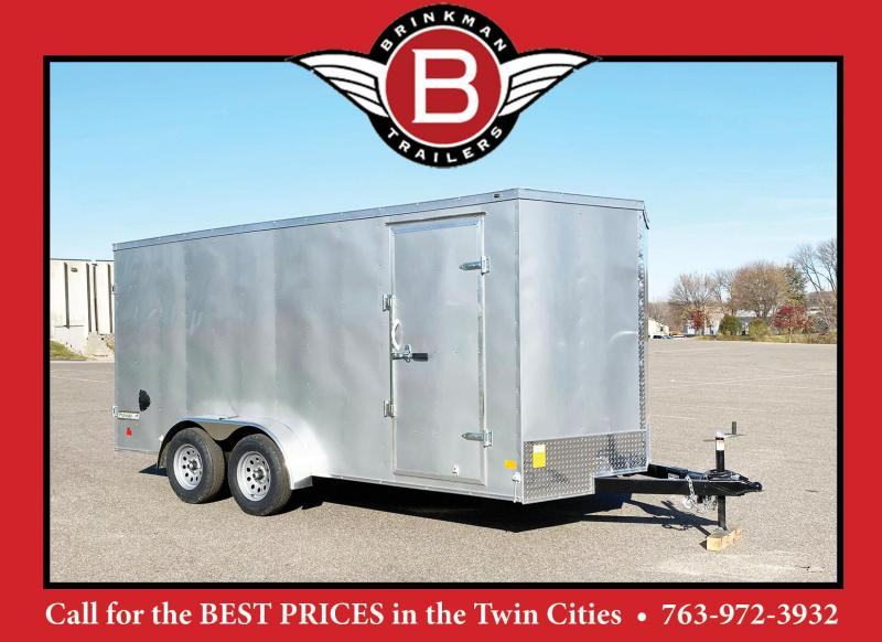 "Haulmark 7 x 16 Enclosed Trailer with 6'6"" Interior and DBL Doors!!"