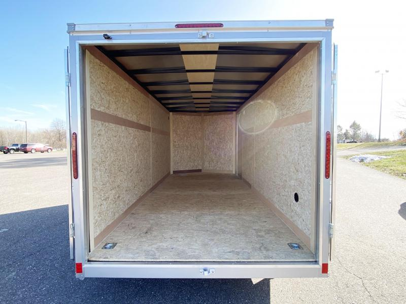 """Haulmark 7 x 16 Enclosed Trailer with 6'6"""" Interior and DBL Doors!!"""