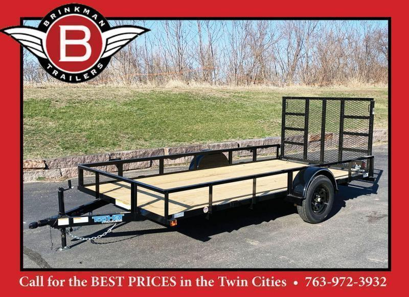 Top Quality Top Hat 77x14 Utility Trailer - Rear Ramp!