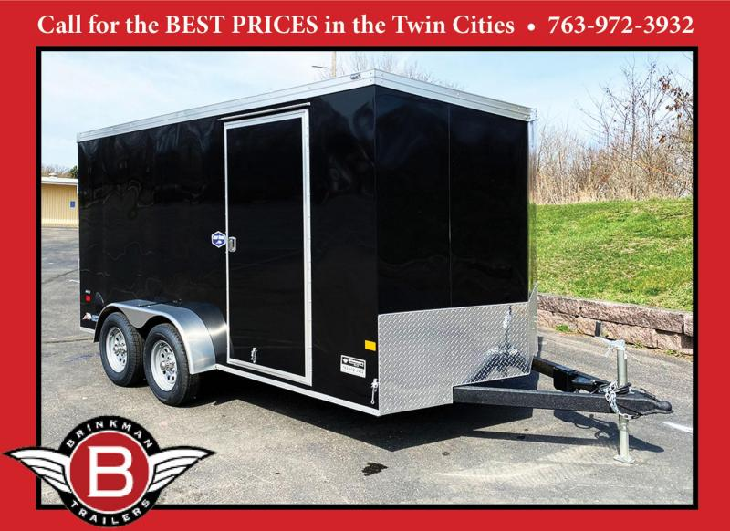 Deluxe American Hauler 7x14 Enclosed Trailer - Rear Ramp!