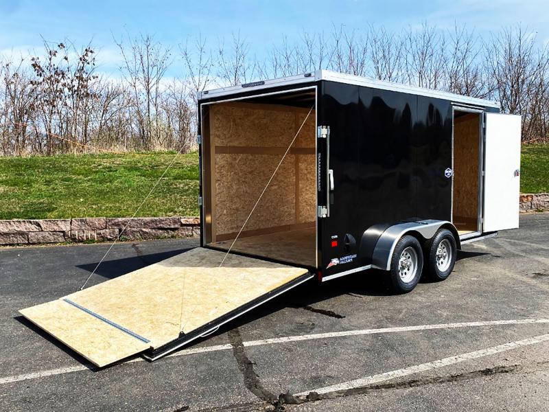 Deluxe American Hauler 7x14 Enclosed Trailer - Rear Ramp!