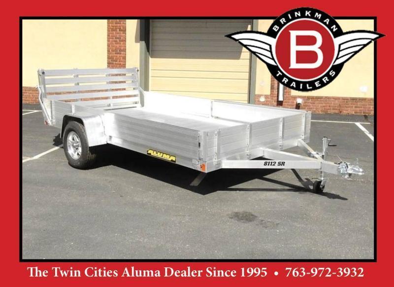 Aluma 8112SR BT Aluminum Utility Trailer - 3500# Axle - ATV/UTV