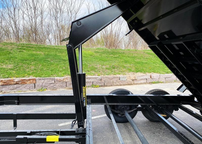 Top Hat 7x16 Dump Trailer - 14,000# GVWR w/ Scissor Lift/ Tarp System!