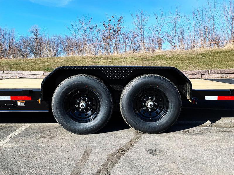 """Top Hat 83"""" x 22' Tilt Bed Car/Bobcat Hauler - 14,000# GVWR"""