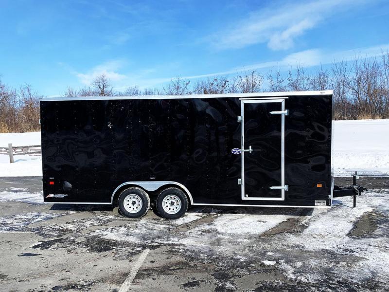 American 8.5x20 Enclosed Cargo Car Trailer - Rear Ramp- 7' Interior
