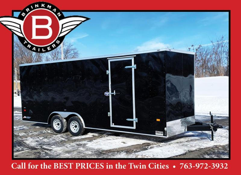 American 8.5x20 Enclosed Cargo Car Trailer - Rear Ramp- 7' Interior