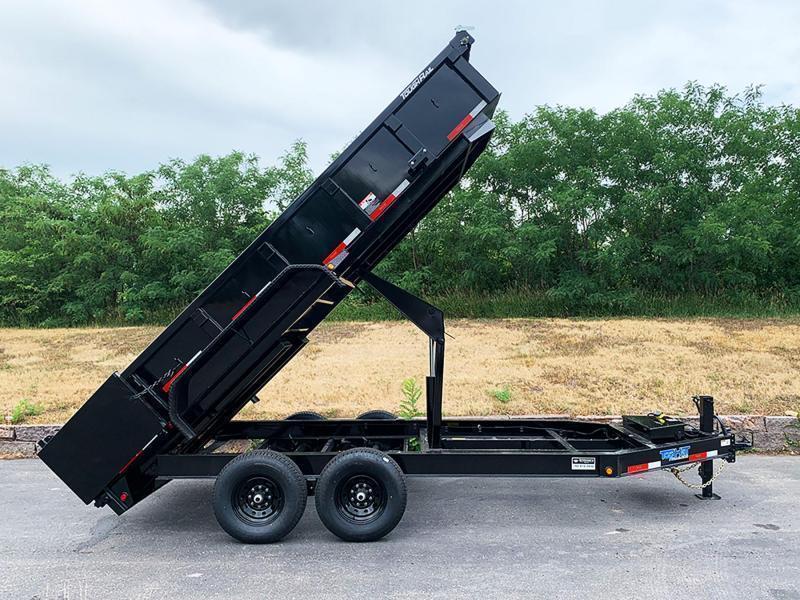 Heavy Duty Top Hat 7x16 Dump Trailer - 14,000# GVWR - Scissor Lift & Tarp System!