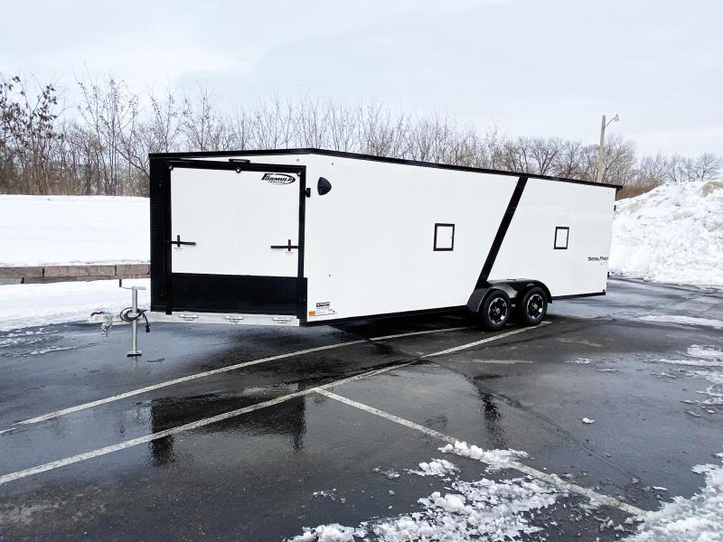 Formula 7x27 (22'+5'V) Aluminum Enclosed Snowmobile Trailer - SUPREME
