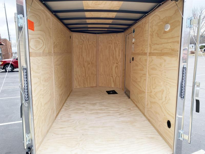 "Continental 6x12 Enclosed Cargo Trailer - Rear Ramp-6'6"" Interior Door"