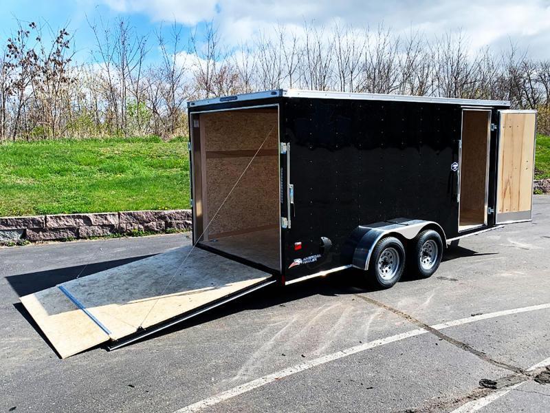 Deluxe American Hauler 7x16 Enclosed Trailer - Rear Ramp!