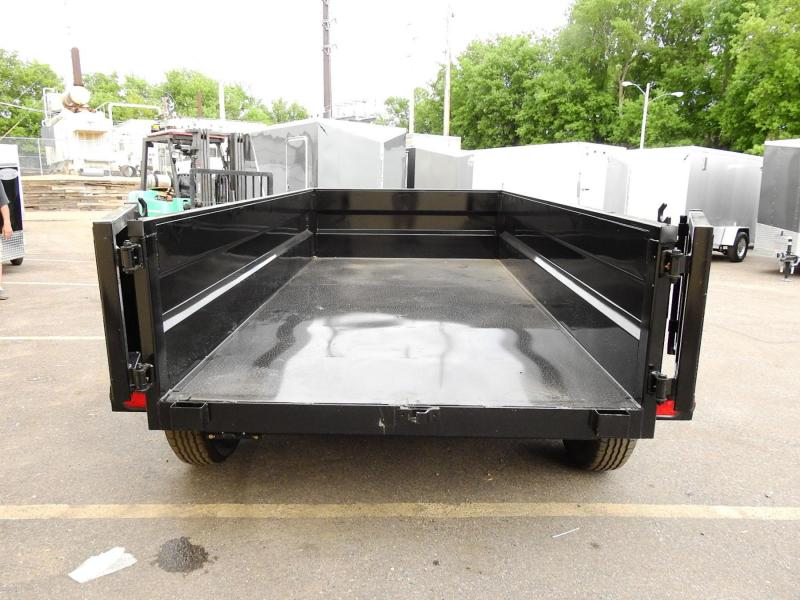 Top Hat 5' x 10' Dump Trailer 7000# GVWR w/ Single Cylinder Lift System!