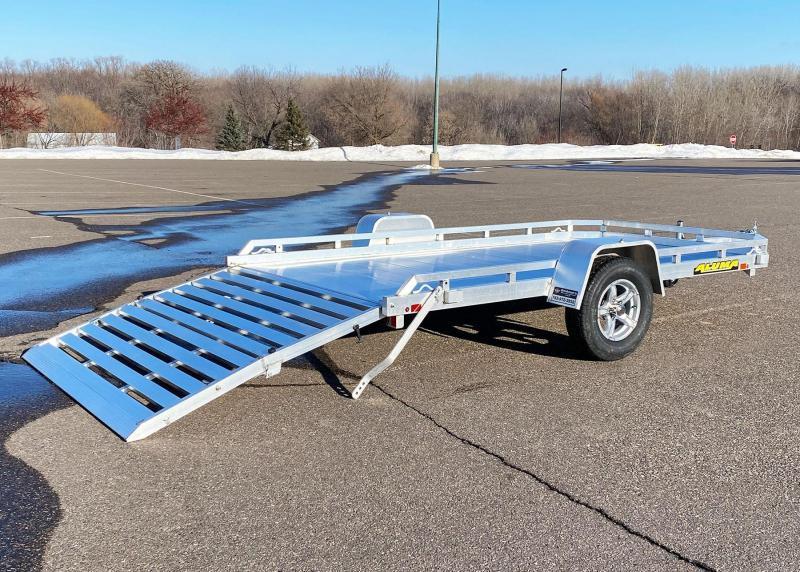 Aluma 7712H BT (77x12) Heavy Duty Aluminum Utility Trailer - Bi-Fold Tailgate!