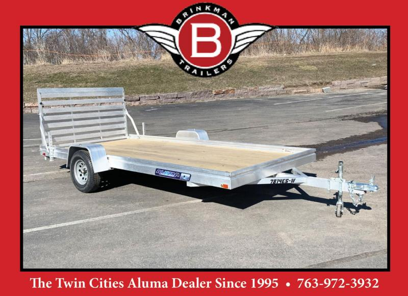 Aluma 7814 ESW (78x14) Aluminum Utility Trailer - Wood Bed!