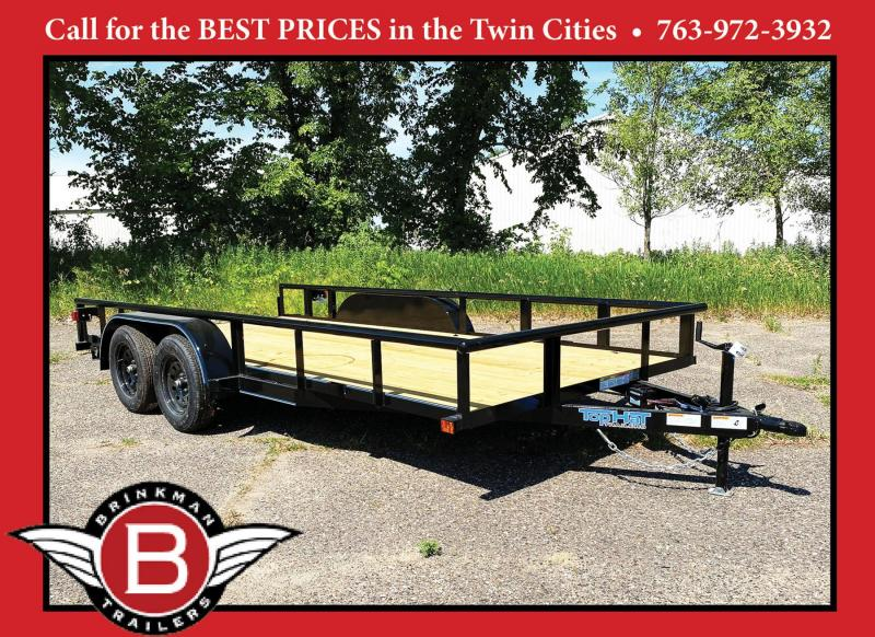 """Top Quality Top Hat 83"""" x 16' Tandem Axle Steel Utility Trailer"""