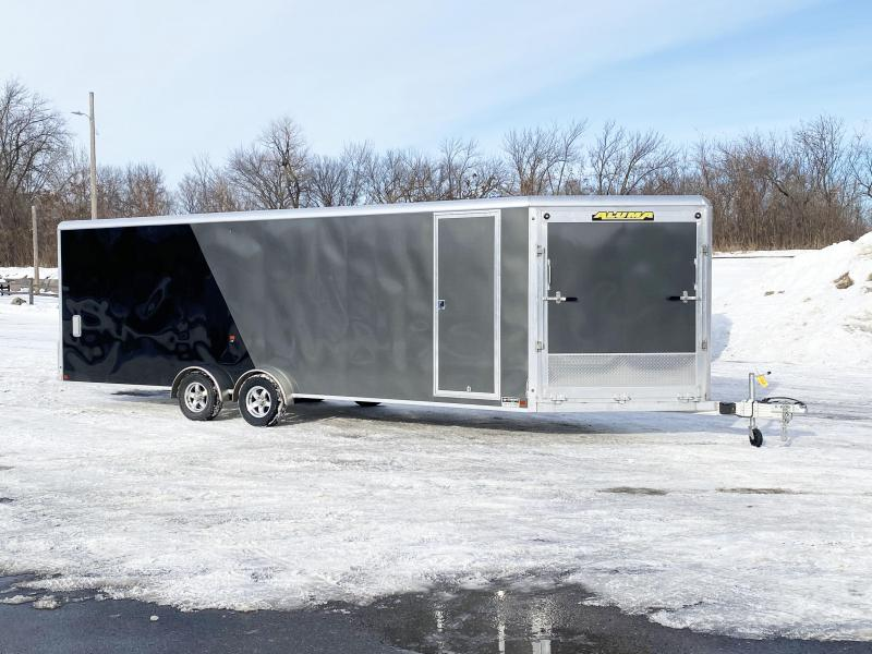 Aluma 7.5x29 (24'+5'V) Enclosed Aluminum Snowmobile Trailer - 7' Int.
