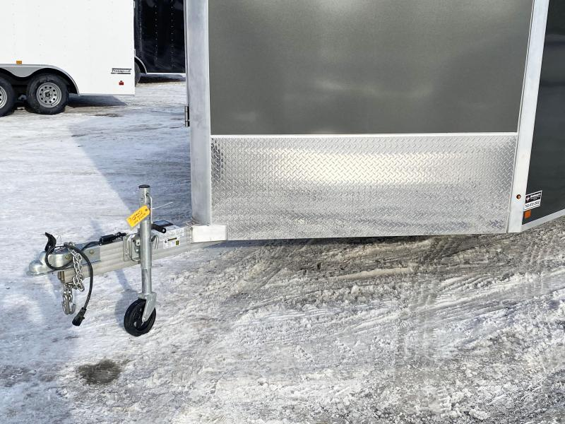 Aluma 7.5x29 (24'+5'V) Enclosed Aluminum Snowmobile Trailer - 7' Int.