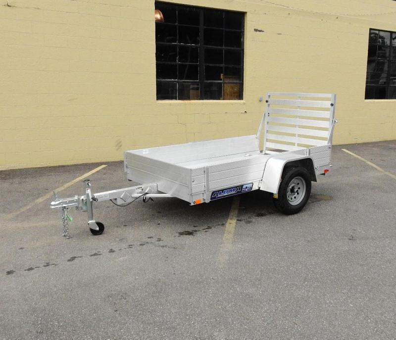 """Aluma 548 - 54""""x8' Aluminum Utility Trailer w/ 12"""" Sides Included!"""