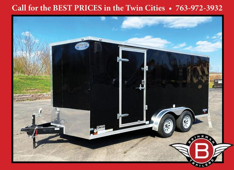 "Continental 7.5x16 Enclosed Trailer - 6'6"" Int. - Rear Ramp!"