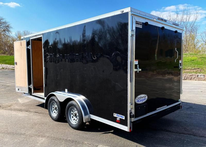 """Continental 7.5x16 Enclosed Trailer - 6'6"""" Int. - Rear Ramp!"""